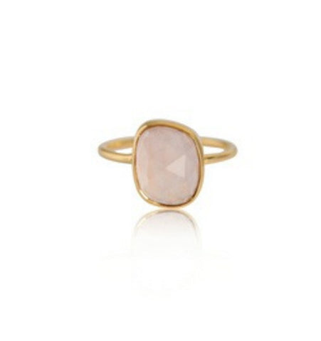 Rose Quartz Aura Ring
