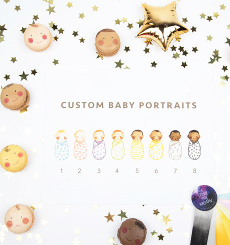 Custom Baby Portrait + Announcement