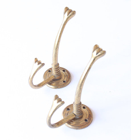 Brass Hat Hooks (20th Century)