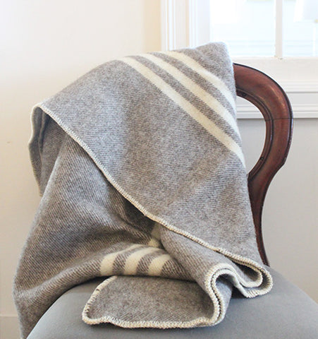 MacAusland Grey Lap Blanket