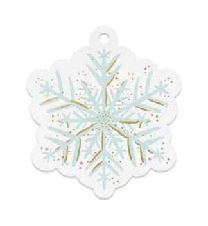 Pack of 8 Snowflake Die-Cut Gift Tags