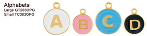 Opaque Pastel Gold Alphabet Tags