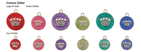 Crown Glitter Tags