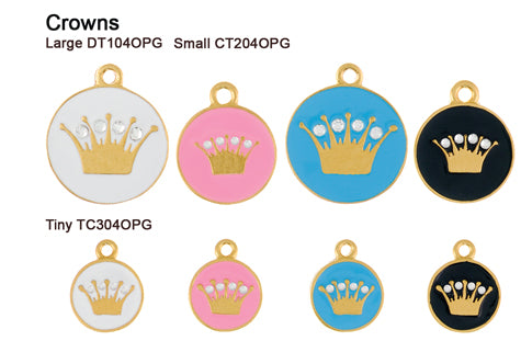 Crown Opaque Pastel Gold Tags