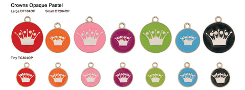Crown Opaque Pastel Tags
