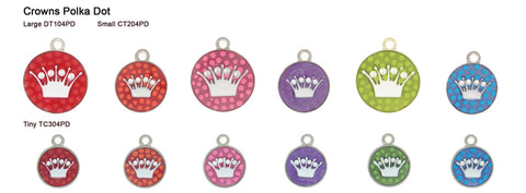 Crown Polka Dot Tags