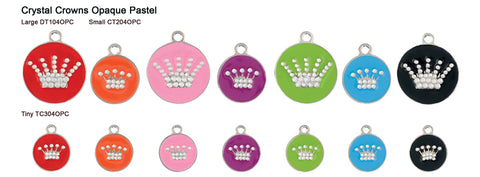 Crystal Crown Opaque Pastel Tags