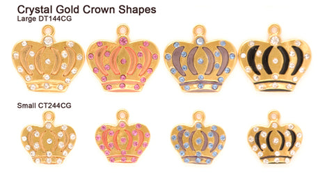 Crystal Gold Crown Shape Tags