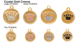 Crystal Gold Crown Tags