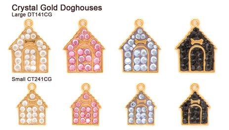 Crystal Gold Doghouse Tags