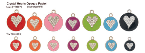 Crystal Heart Opaque Pastel Tags