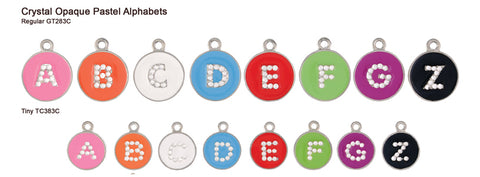 Crystal Opaque Pastel Alphabet Tags