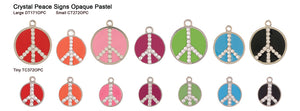 Crystal Peace Sign Opaque Pastel Tags