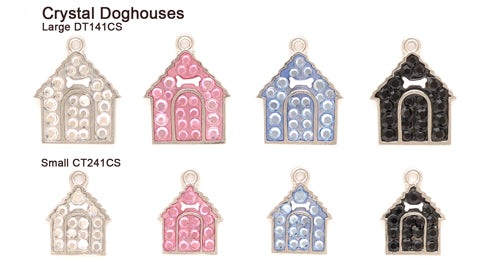 Crystal Silver Doghouse Tags