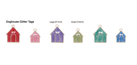 Glitter Doghouse Tags