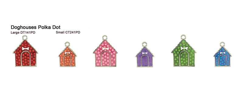 Polka Dot Doghouse Tags