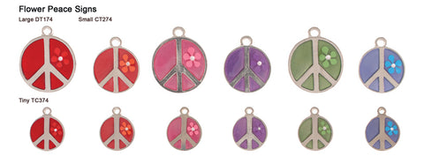 Flower Peace Sign Opaque Pastel Tags
