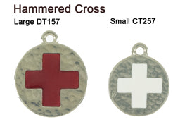 Hammered Cross Tags