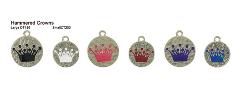 Hammered Crown Tags