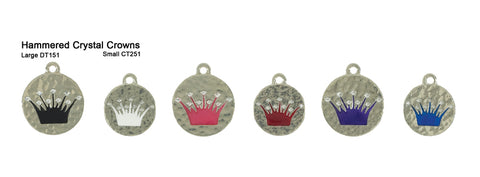 Hammered Crystal Crown Tags
