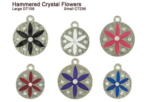 Hammered Crystal Flower Tags
