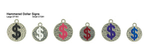 Hammered Dollar Sign Tags