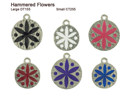 Hammered Flower Tags