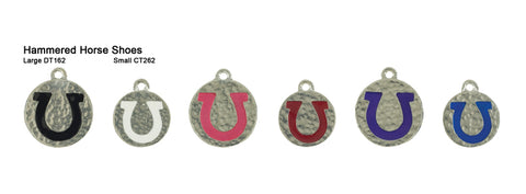 Hammered Horseshoe Tags