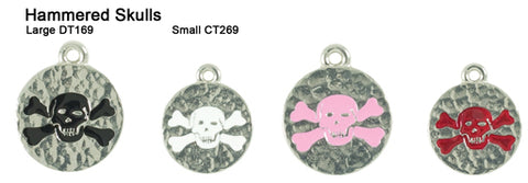 Hammered Skull Tags