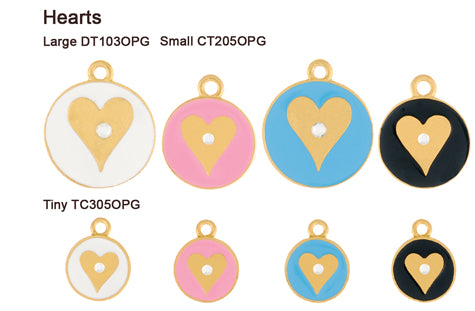 Gold Opaque Pastel Heart Tags