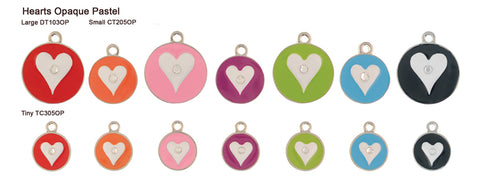 Heart Opaque Pastel Tags