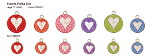 Heart Polka Dot Tags