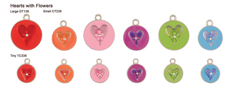 Hearts with Flowers Tags