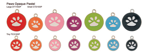 Paw Opaque Pastel Tags