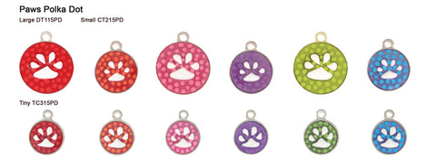 Polka Dot Paw Tags