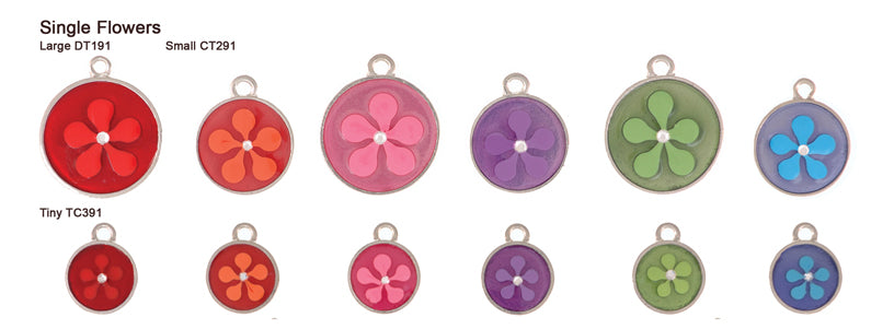 Single Flower Translucent Pastel Tags
