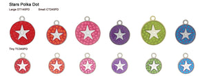 Polka Dot Star Tags