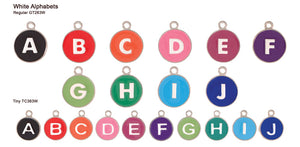 White Alphabet Tags