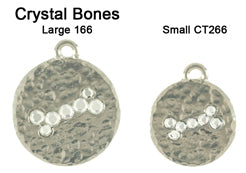 Hammered Crystal Bone Tags