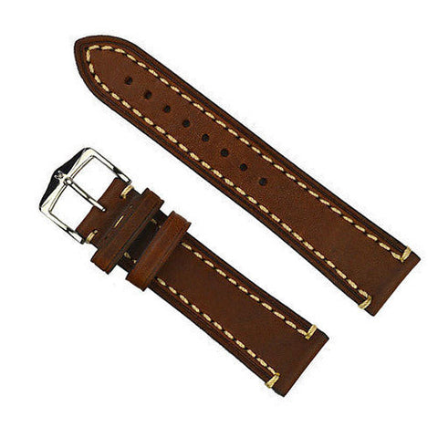 Hirsch Liberty Leather Watch Band Strap Brown
