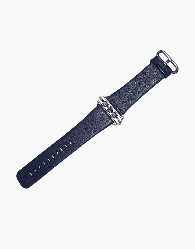 Apple iWatch Style Straps Blue Navy Smooth Calf leather by LUX