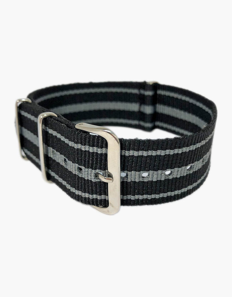 Nylon 3 Stripes NATO Style Watch Bands by LUX