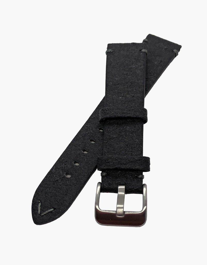 Black Vegan Leather Pineapple Leaf watch bands strap