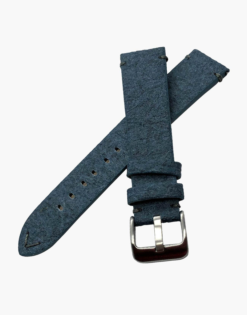 Blue Vegan Leather Pineapple Leaf watch bands strap