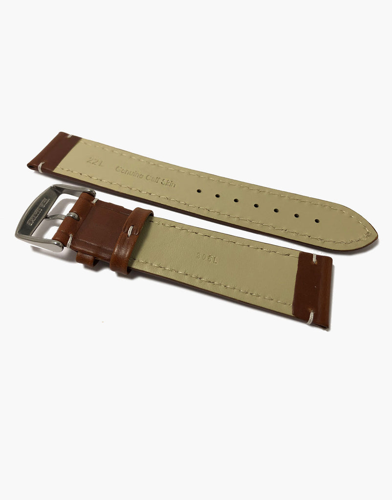 LUX Genuine Calf Skin Italian Leather Watch Band Oil Tanned strap Large