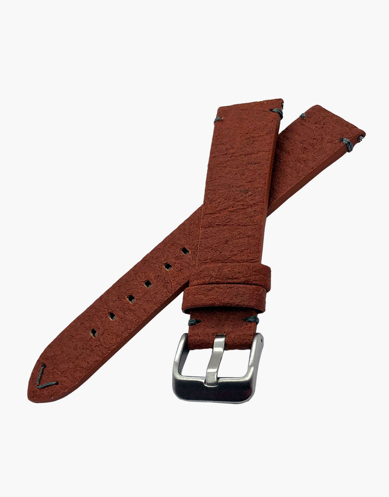 Brown Vegan Leather Pineapple Leaf watch bands strap