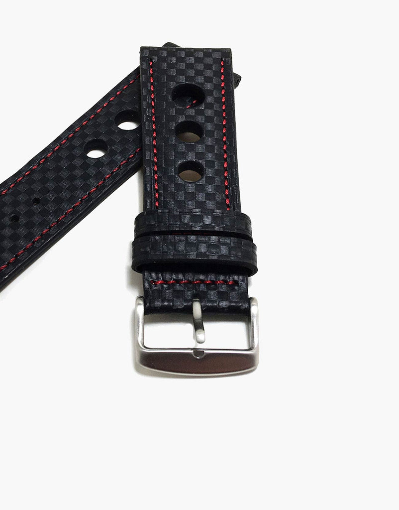 LUX Grand Prix Rally Carbon Fiber Black with Red Stitching