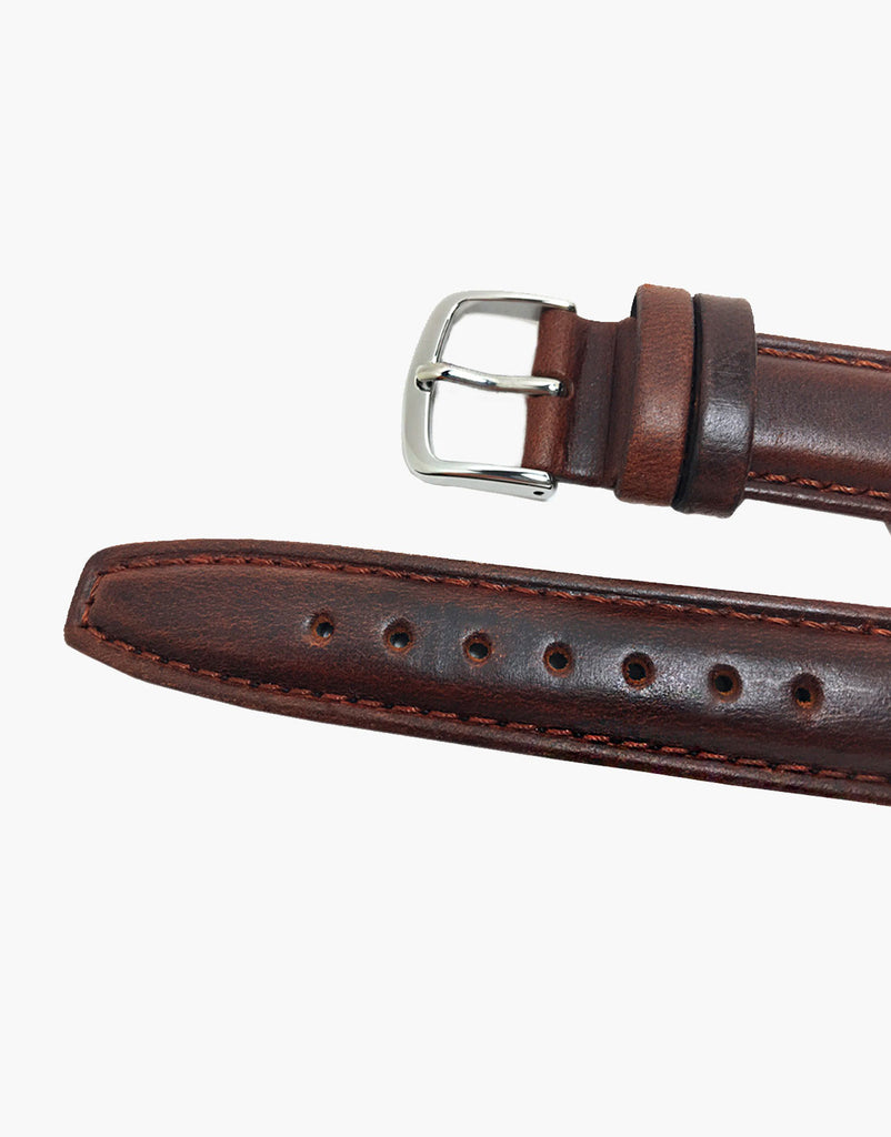 Hadley-Roma MS881 Brown Italian Calf skin oil tanned leather watch bands