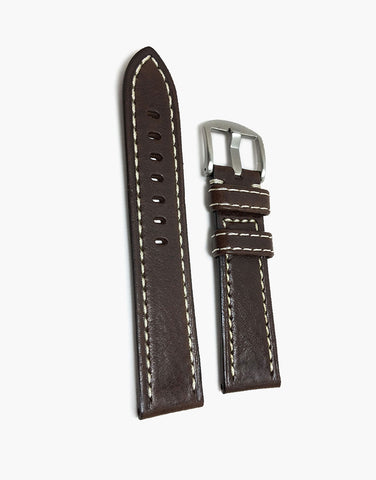 Hadley Roma Brown Leather Watch Strap