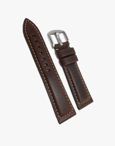 Hadley Roma Brown Oil Tanned Style Panerai Watch Band Strap